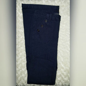 Suede Taylor Button Pocket Stretch Flare Jeans 29
